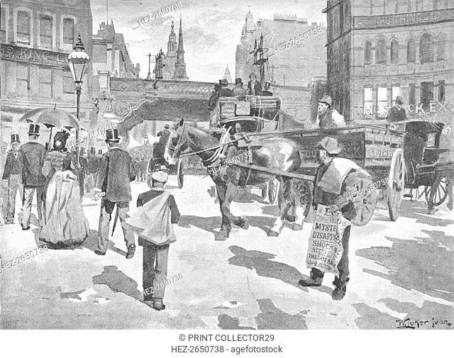 'Ludgate Circus', 1891. Artist: William Luker