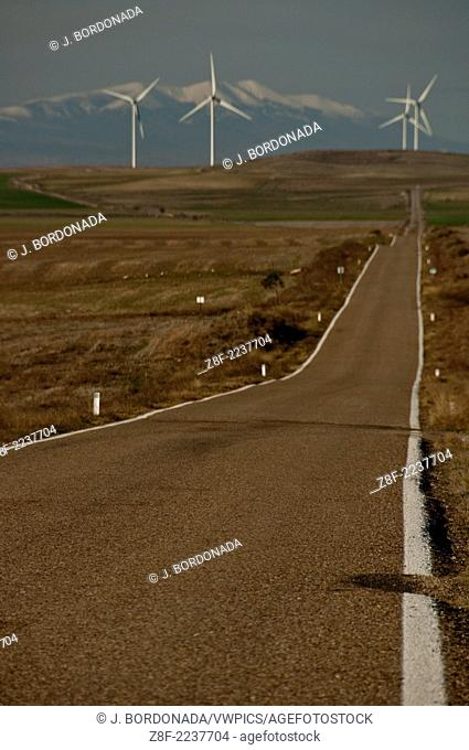 Los Monegros is a vast desertic area of 160,000 hectares in Zaragoza and Huesca provinces. Aragon. Spain