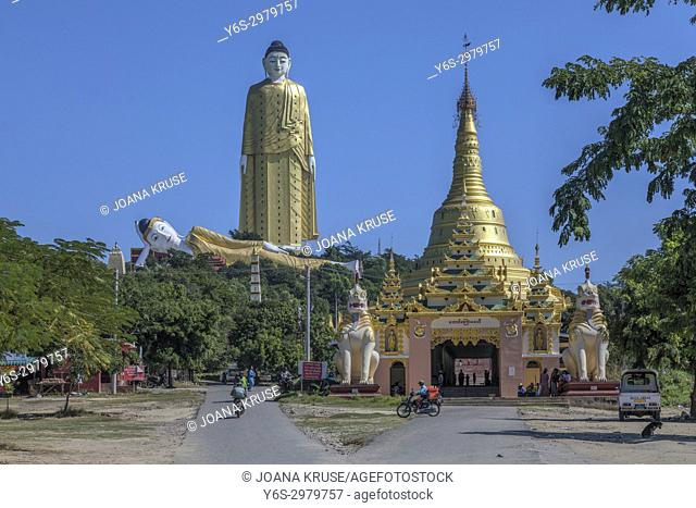 Maha Bodhi Tahtaung, Monywa, Sagaing, Myanmar, Asia