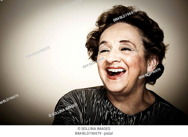Laughing senior woman