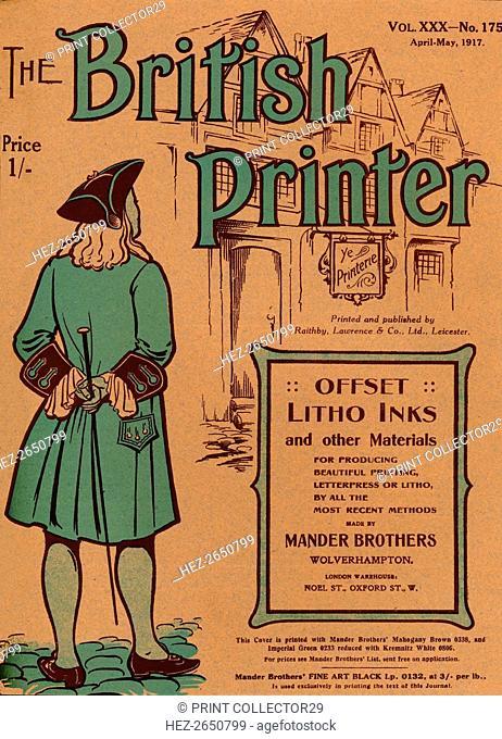 'The British Printer Vol. XXX - No. 175 April-May, 1917 cover', 1917. Artist: Mander Brothers