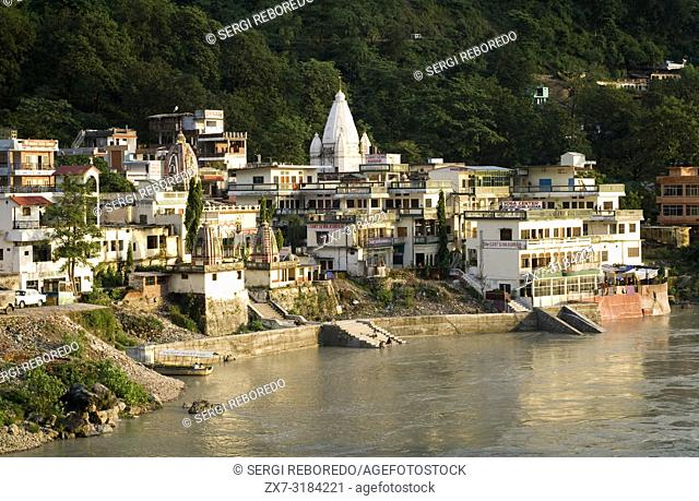 Rishikesh, Uttaranchal, India. Sant Sewa Ashram. Lakshman Jhula. Rishikesh. India. Rishikesh, also spelled Hrishikesh, Rushikesh, or Hrushikesh