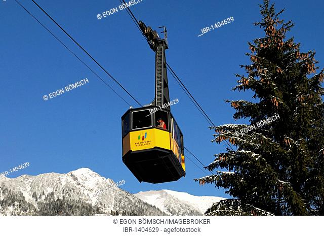 Cabin of Mt Nebelhornbahn, 828 - 2224m, Oberstdorf, Allgaeu, Bavaria, Germany, Europe