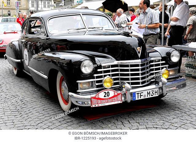 Cadillac Club Coupe Series 62, built in 1942, 2000 km durch Deutschland 2009 rally, 2000 km through Germany 2009, Schwaebisch Gmuend, Baden-Wuerttemberg