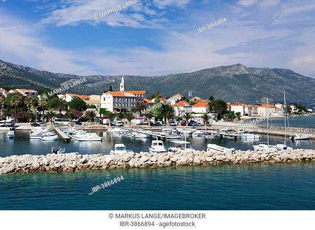 Town of Orebic, Pelješac Peninsula, Dalmatia, Croatia