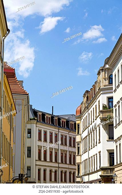 Typical Architecture in the New Town of Dresden, Saxony, Germany