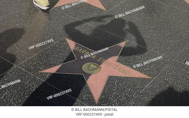 Los Angeles California CA Walk of Fame stars at the famous TCL Chinese Theater with the Hollywood Walk Barbra Streisand star