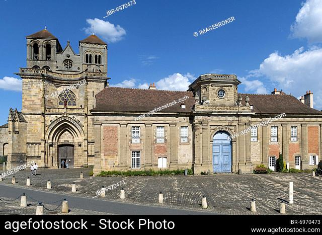 Saint Pierre and Saint Paul priory church, Souvigny, Allier department, Auvergne-Rhone-Alpes, France, Europe