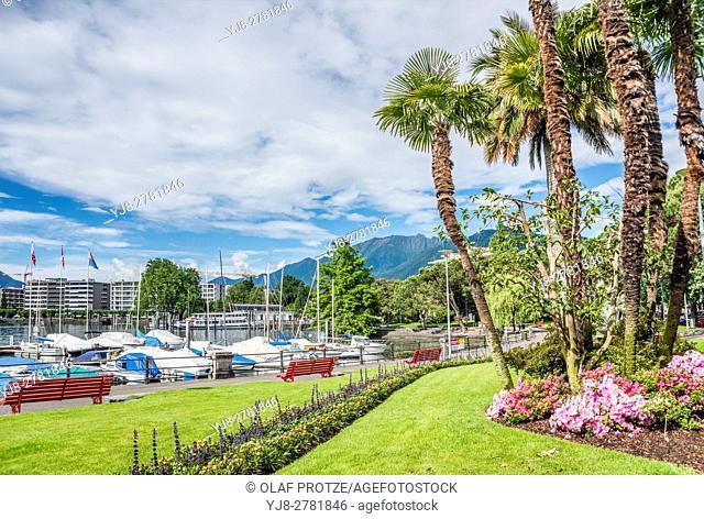 Lakefront of Locarno, Ticino, Switzerland