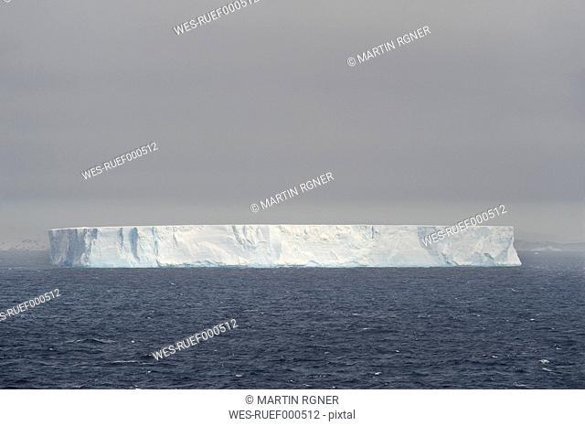 Antarctic, Antarctic Peninsula, View of tabular iceberg in weddell sea