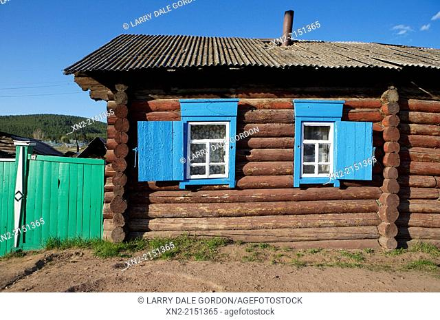 Traditional log house in the 'Old Believers' Village', settled by members of a 'heretical' offshoot of the Russian Orthodox Church known as the Old Believers