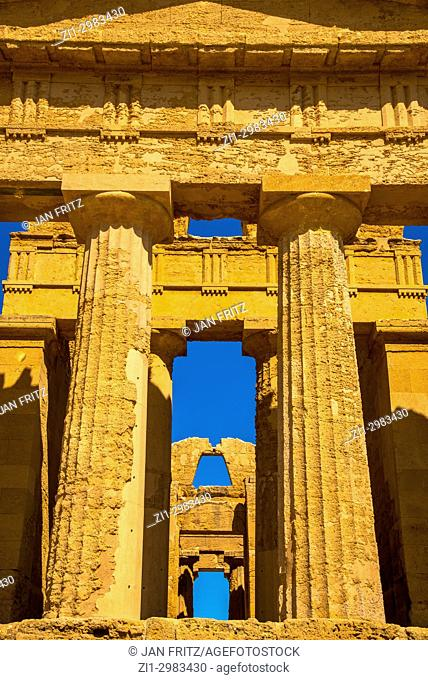 Temple of Concordia in the Valley of the Temples, Agrigento, Sicily, Italy