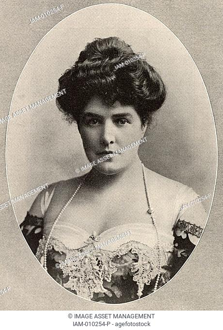 Mrs George Cornwallis-West born Jennie Jerome - 1854-1921 American society beauty, widow of Lord Randolph Churchill and mother of Winston Churchill who became...