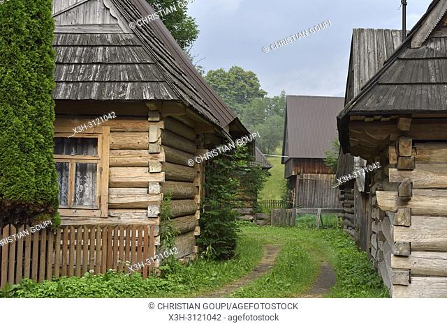 village of Chocholow, Podhale region, Malopolska Province (Lesser Poland), Poland, Central Europe