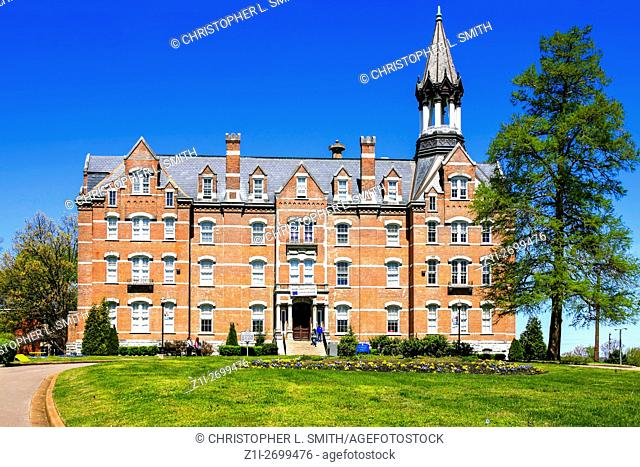 Jubilee Hall building on Fisk University campus in Nashville TN. The University's first permanent building, built in 1876