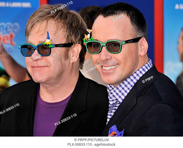 Elton John & David Furnish at the World Premiere of Gnomeo & Juliet held at the El Capitan Theatre in Hollywood, CA. The event took place on Sunday, January 23