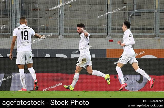 firo: 12.03.2021, Soccer: Soccer: 1st Bundesliga, season 2020/21 FC Augsburg, Augsburg FCA. VfL Borussia Monchengladbach, Borussia Monchengladbach