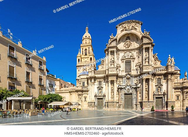 Spain, Murcia Community, Murcia, facade altarpiece of the cathedral
