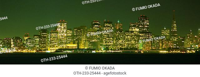 Skyline from Treasure Island at night, San Francisco