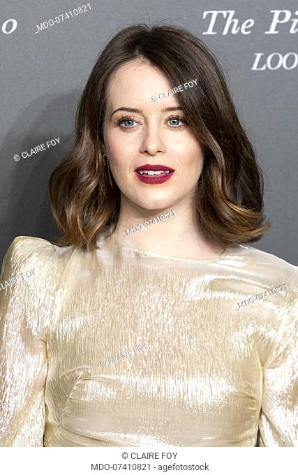 British actress Claire Foy during the presentation of the Pirelli 2020 Calendar at the Verona Philharmonic Theater. Verona (Italy), December 3rd, 2019
