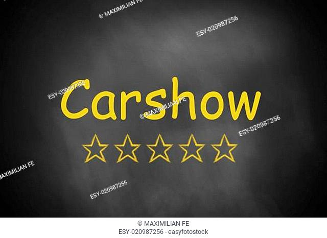 carshow black chalkboard golden star ranking
