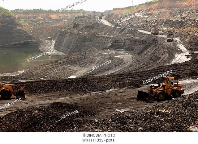 Open cast coal mines of the Mahanadi Coal Fields Limited at Jharsuguda Orissa India