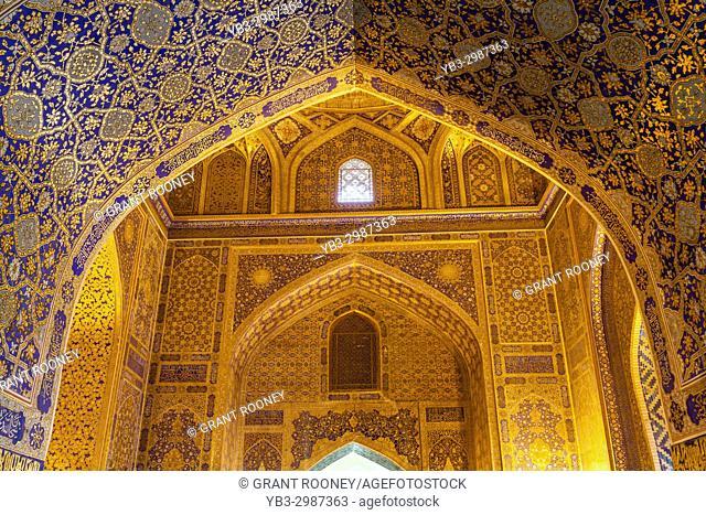 A Gilded Room In The Tilla-Kori Madrassa, The Registan, Samarkand, Uzbekistan