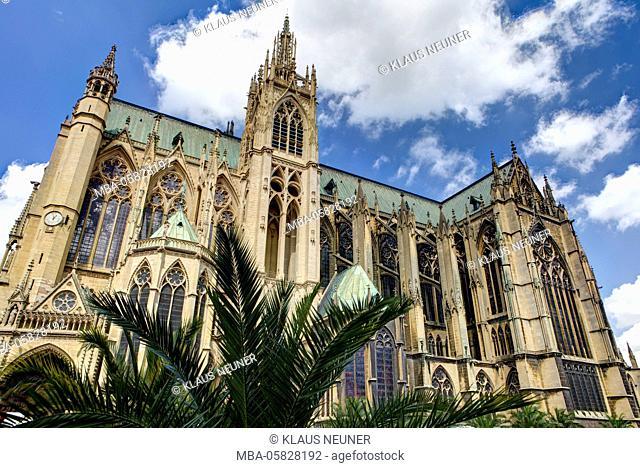 Cathedral Saint-Étienne, Metz, Département Moselle, region Alsace-Champagne-Ardenne-Lorraine, France