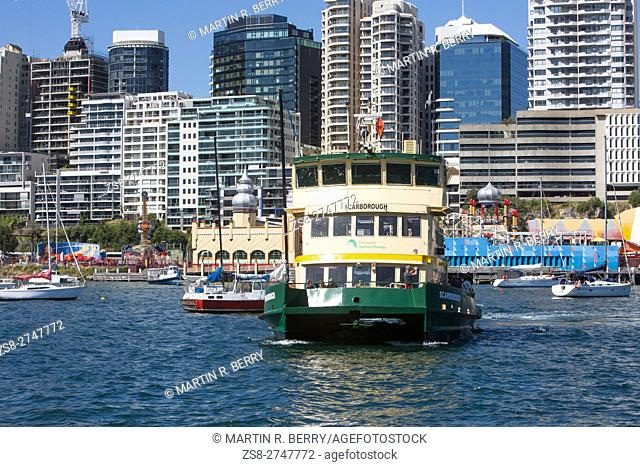 Sydney Ferry on the Harbour,New South Wales,Australia