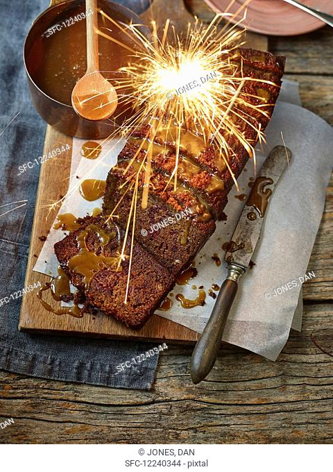 Sticky Toffee Pudding with Sparkler