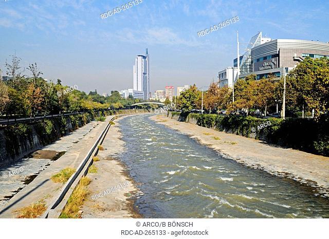 River Rio Mapocho, Santiago de Chile, Chile