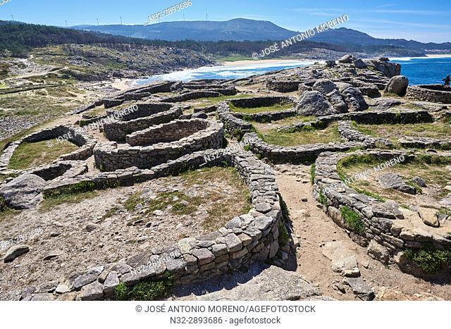 Castro de Baroña, Human Settlement, Porto do Son, A Coruña province, La Coruña, Galicia, Spain