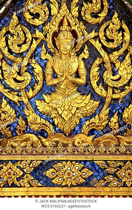 temple decoration in grand palace of bangkok thailand