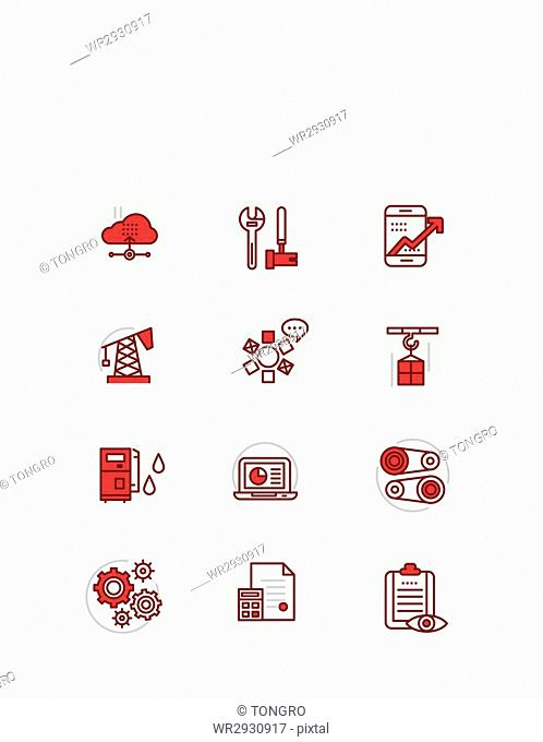 Set of various icons