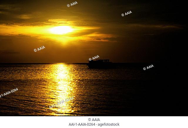 Sunset over sea, Maldives