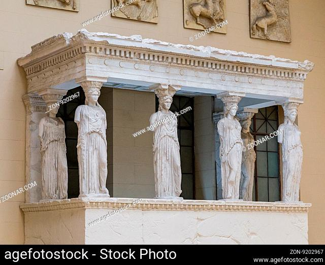 Moscow, Russia - February 16, 2016: Pushkin Museum of Fine Arts is largest museum of European art in Moscow, Russia