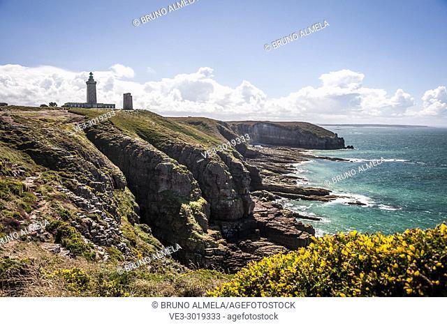 Lighthouse in Fréhel Cape (deparment of Côtes-d'Armor, region of Bretagne, France)