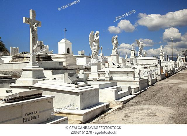 View to the Sta. Ifigenia Cemetery-Cementerio Sta. Ifigenia at the city center, Santiago de Cuba, Cuba, Central America