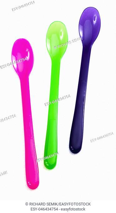 still life of child teaspoons
