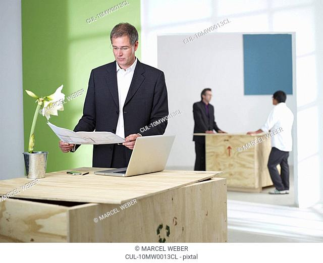 Manager in green office