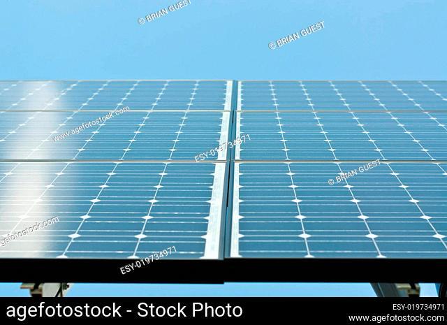 Sunlight Reflecting on Solar Panels
