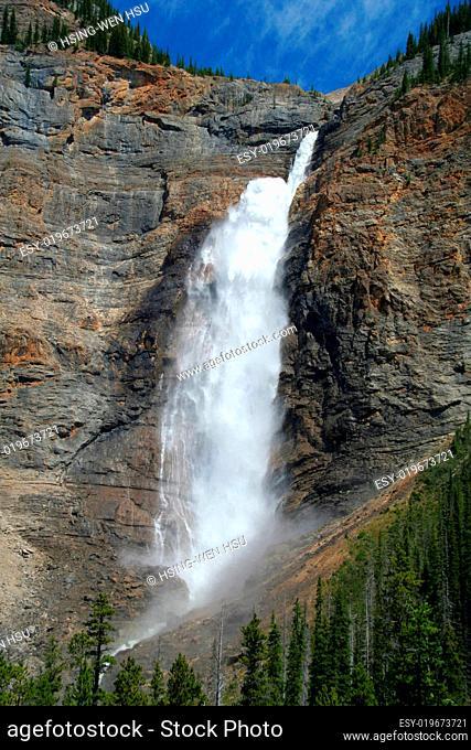 Waterfall in Yoho National Park, Canada