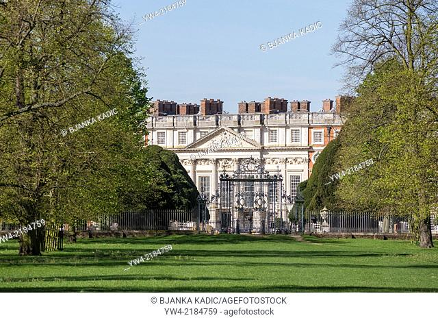 Hampton Court Palace, from Home Park side, Surrey, England, London, UK