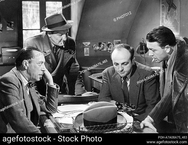 Quai des Orfèvres  Year: 1947 - France Bernard Blier, Louis Jouvet, Paul Demange, Bob Ingarao  Director: Henri-Georges Clouzot Restricted to editorial use