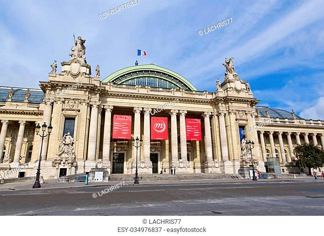 PARIS, FRANCE - August 9: The Grand Palais on August 9, 2014 in Paris, France. The Grand Palais shows art exhibitions and hosts different cultural events