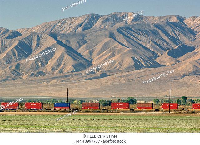 Freight Train at Salton Sea, California, United States of America