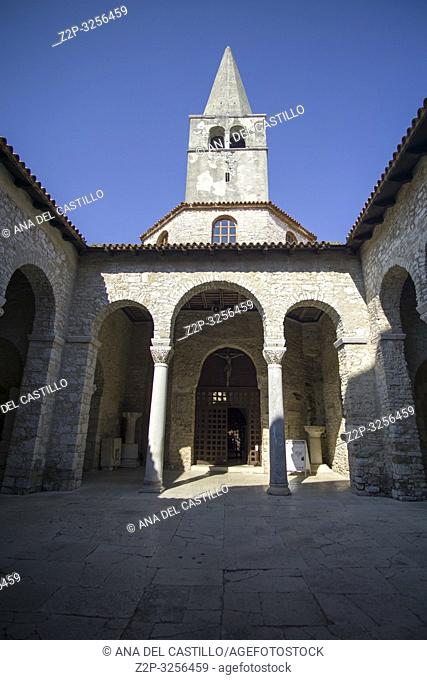 Porec, Croatia. Euphrasian Basilica is UNESCO heritage site in Porec old town