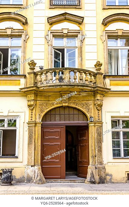 Historical architecture in th eOld Town Wroclaw of Poland