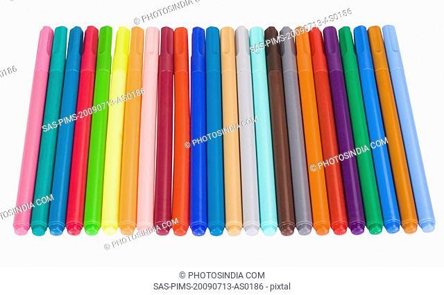 Close-up of felt tip pens