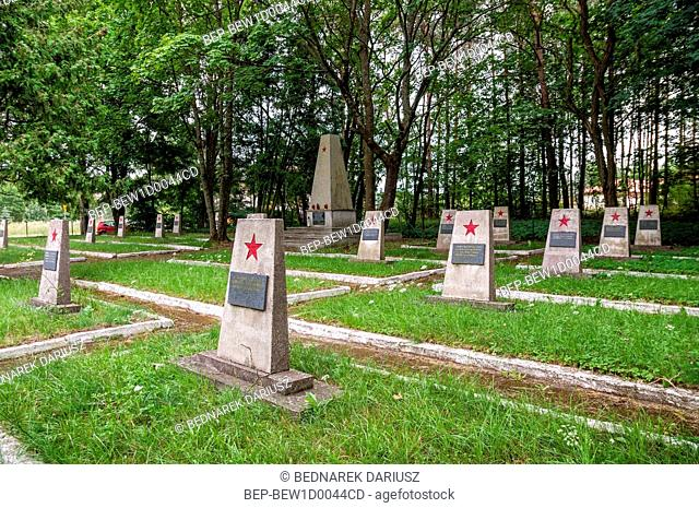 Cemetery of Soviet soldiers in Czersk, Pomeranian Voivodeship, Poland